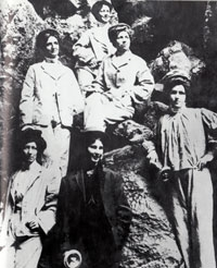 women cavers from early 1900s