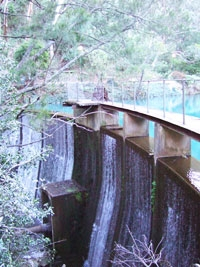 water supply for hydro electric plant at Jenolan Caves