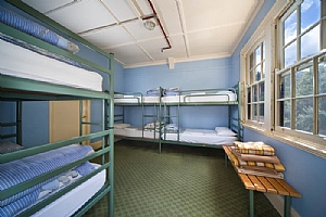 Large school groups can stay in backpacker accommodation.