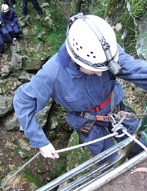Adventure caving is great for self control and self confidence.