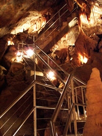 stainless steel handrails in Jenolan Caves