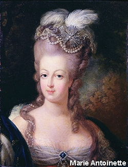 Marie Antionette began the feathered hat fashion