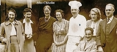 Third from the left, Miss Chisolm is rumoured to haunt Caves House now.