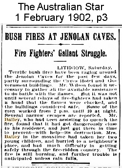 Bushfire at Jenolan in 1902