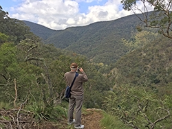 on the 6 foot track overlooking the Jenolan Valley