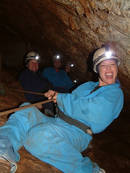 adventure blue mountains - The challenging Aladdin Adventure at Jenolan Caves