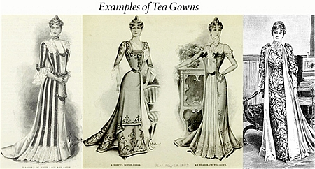 Examples of tea gowns
