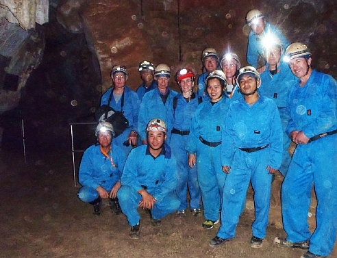 ISCA delegates have a go at Adventure Caving while at Jenolan Caves.