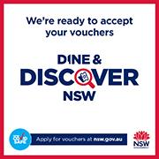 We Accept Dine & Discover Vouchers