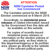 NSW CARETAKER PERIOD HAS COMMENCED
