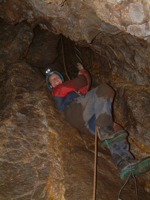 Serious challenge on the Mammoth Adventure, Jenolan Caves